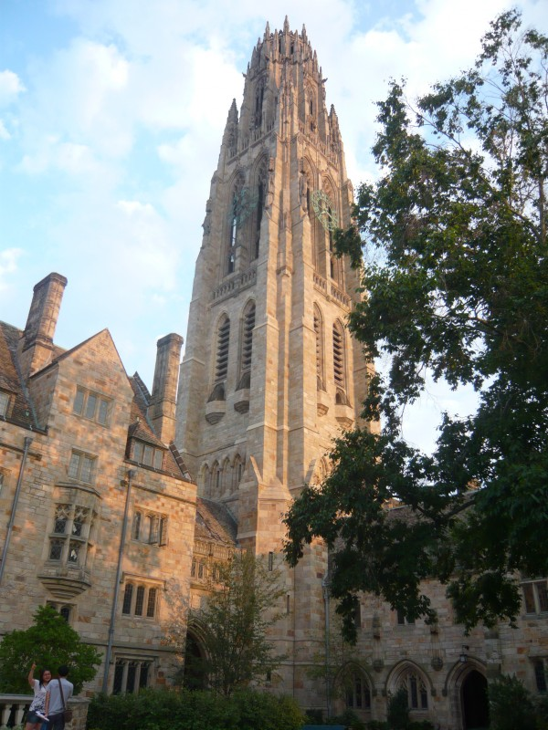 Exterior of Yale University buildings